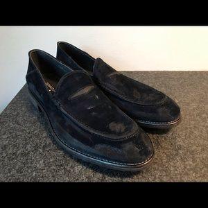 Donald Pliner Navy Distressed Loafer - Men's 10.5